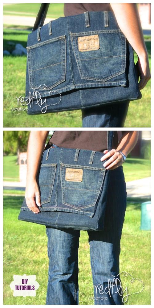 DIY Denim Messenger Bag Tutorial