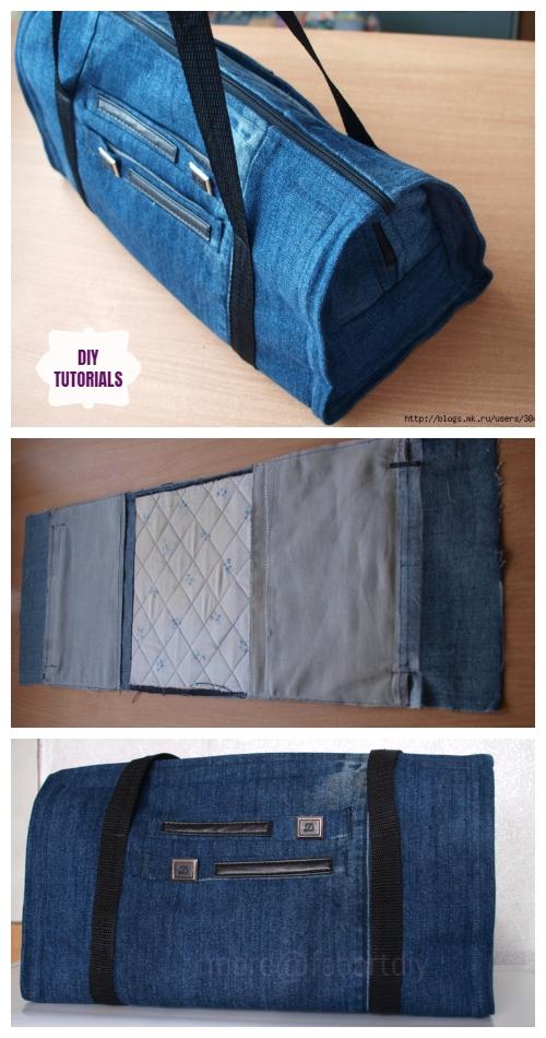 DIY Recycled Jean Hand Bag Tutorial