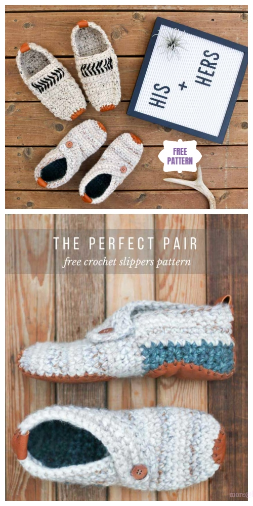 Saturday Lovers Outdoor Slippers Free Crochet Patterns