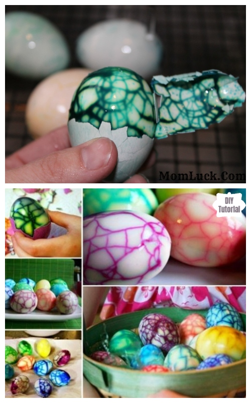 DIY Edible Marbled Easter Eggs Tutorial
