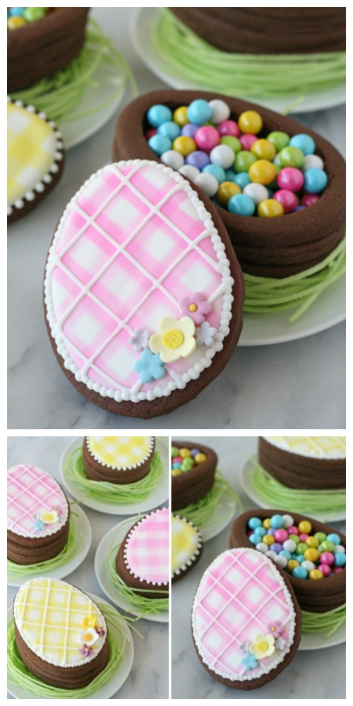 DIY Easter Egg Cookie Boxes Tutorial