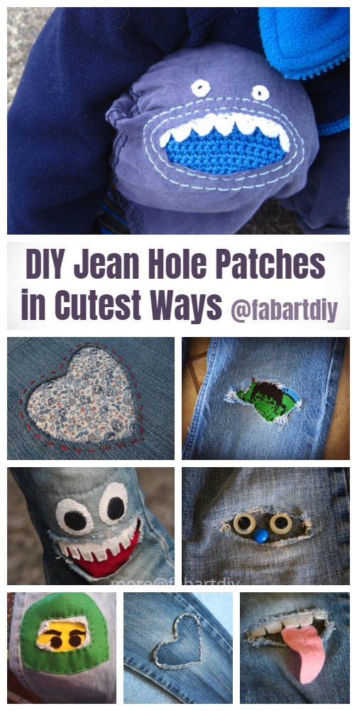 Fun DIY Jean Hole Patches in Cutest Ways