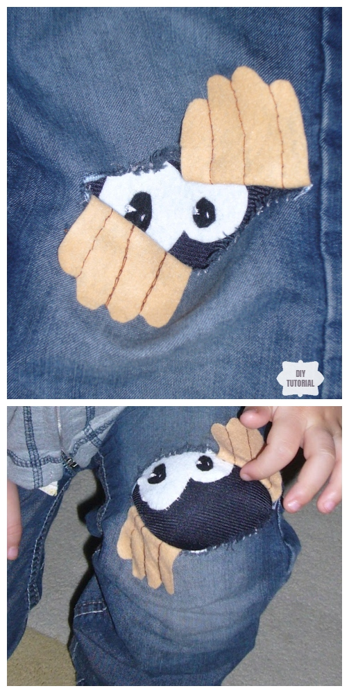Fun DIY Jean Hole Patches in Cutest Ways - Curious Little Person Jean Holes Patch Repair