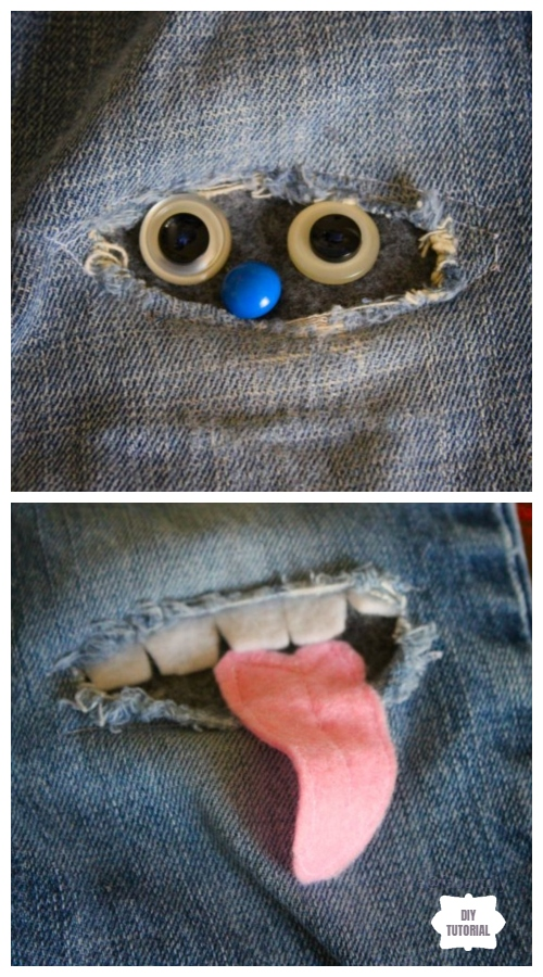 Fun DIY Jean Hole Patches in Cutest Ways - Patch Jean Holes in Nanabread Way DIY Tutorial