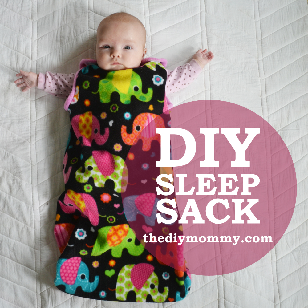 DIY Simple Baby Sleeping Bag Free Template + Video Tutorial