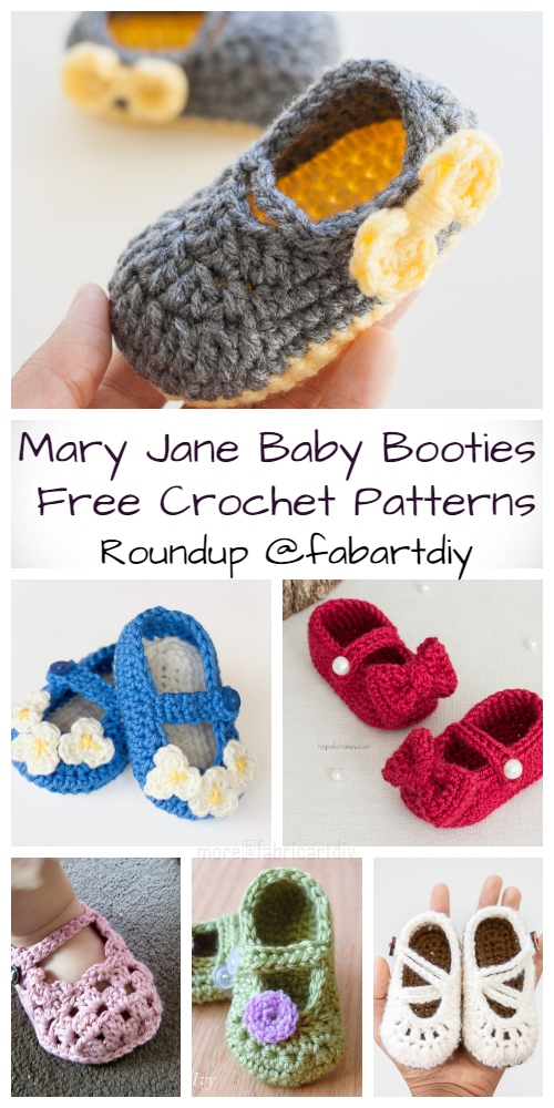 Crochet Mary Jane Baby Booties Free Crochet Patterns