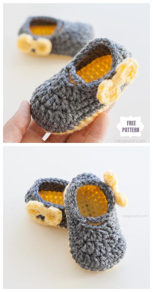 Crochet Mary Jane Baby Booties Free Crochet Patterns - Piper Jane Baby Shoes Free Crochet Pattern