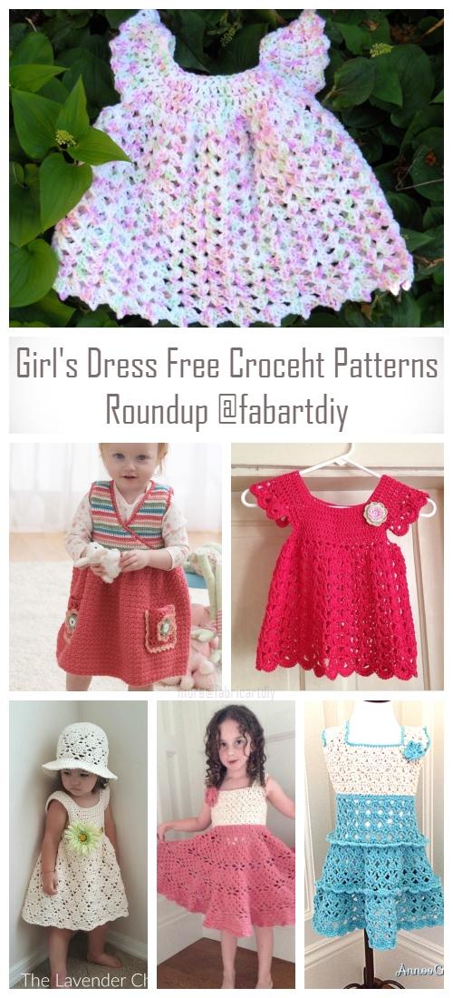10+ DIY Crochet Girl's Dress Free Patterns