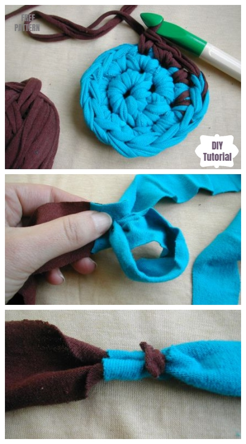 Diy Upcycled Crochet Rag Rug From Old T