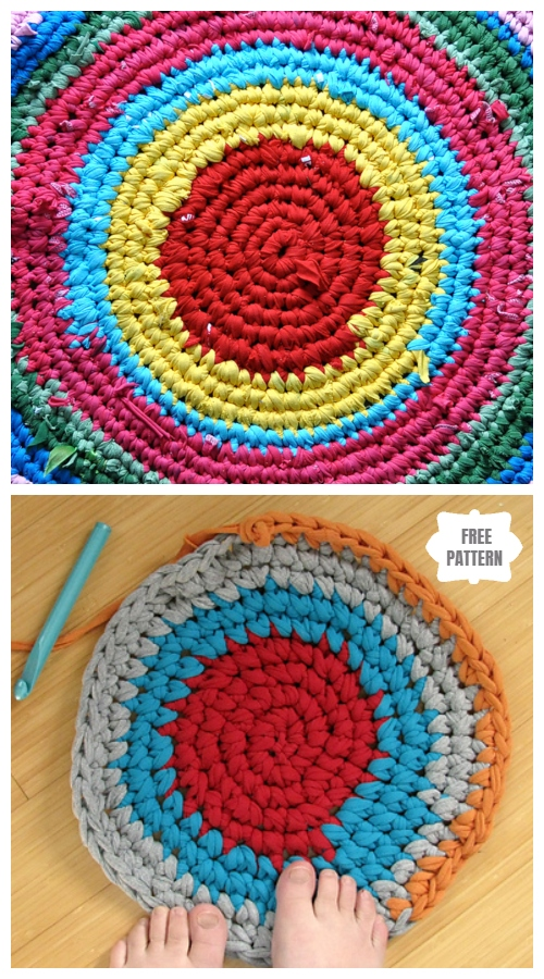 Diy Upcycled Crochet Rag Rug From Old T Shirts