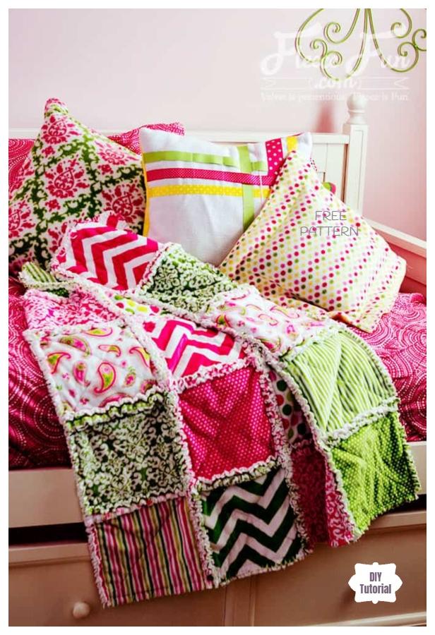 DIY Easy Baby Rag Quilt Blanket Tutorials