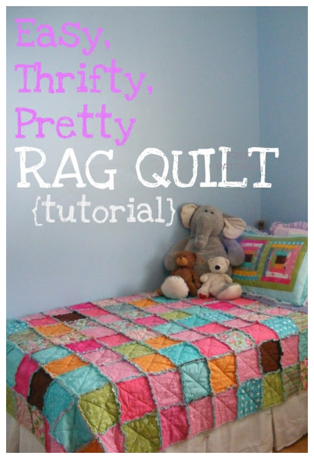 DIY Easy Thrifty Rag Quilt Blanket Tutorials