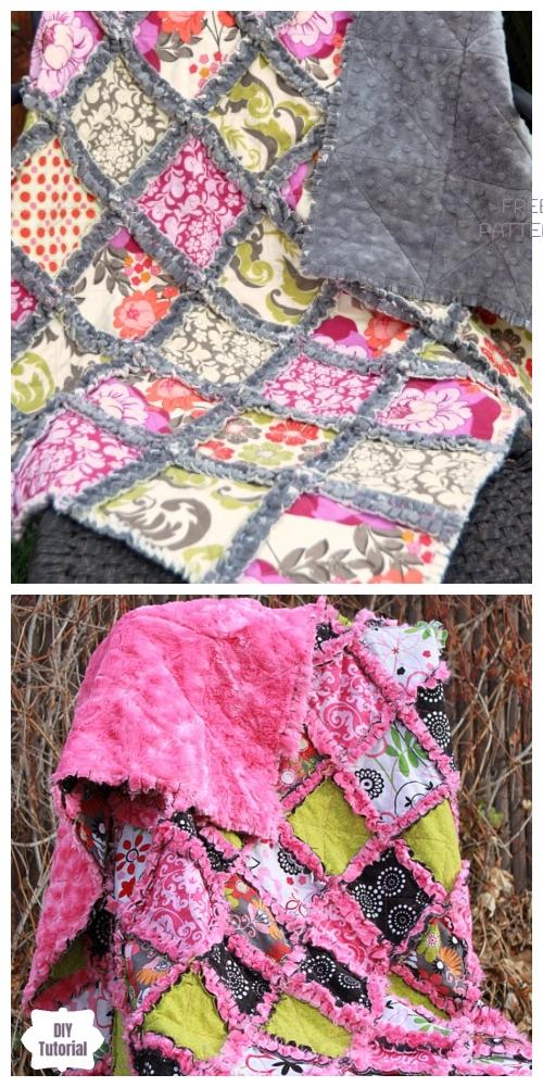 DIY Milky Rag Quilt Blanket Tutorials