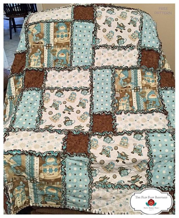 DIY Unique Rag Quilt Blanket Tutorials