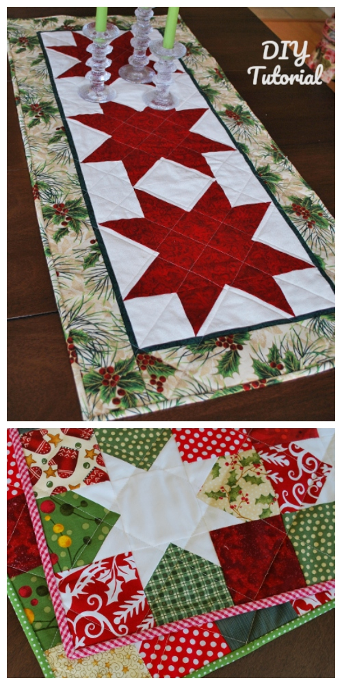 DIY Lovely Starry Eyed Patchwork Table Runner Tutorial