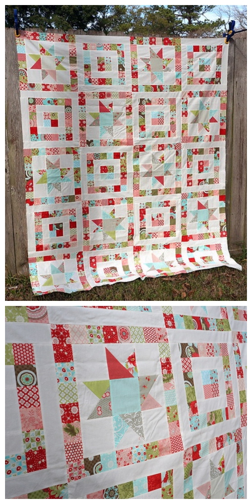 DIY Christmas Wren Quilt - Star Eye Quilt Tutorial