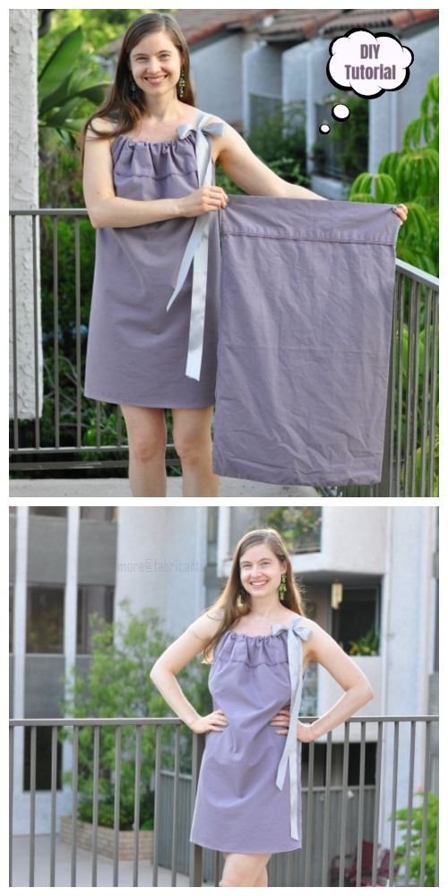 DIY Easiest Women Pillowcase Dress Tutorial