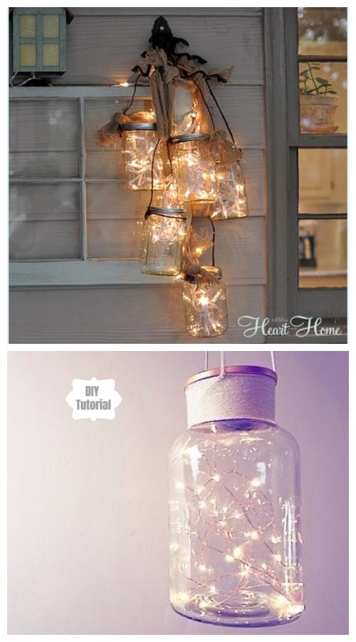 20+ DIY Stunning Outdoor Lighting Ideas for Summer Night - Mason Jar Lighting DIY Tutorial