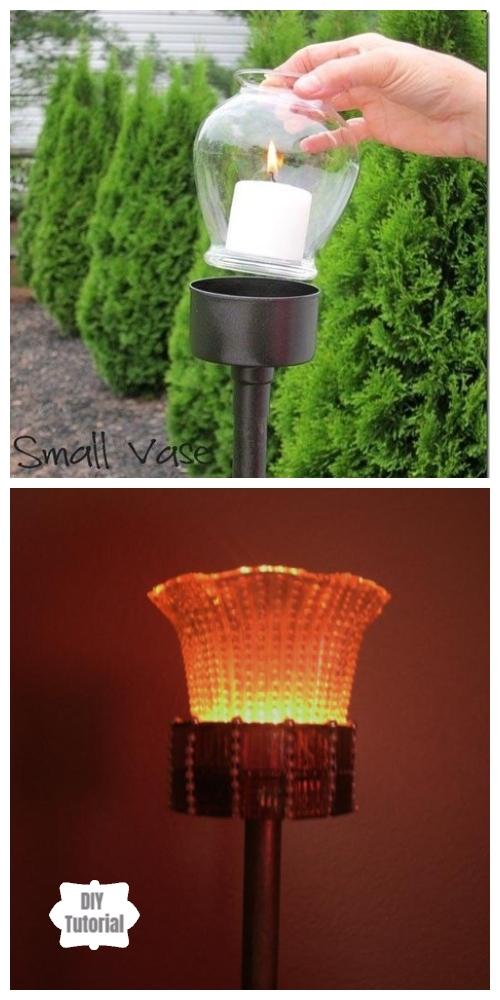 20+ DIY Stunning Outdoor Lighting Ideas for Summer Night - Outdoor Tuna Can Lantern DIY Tutorial