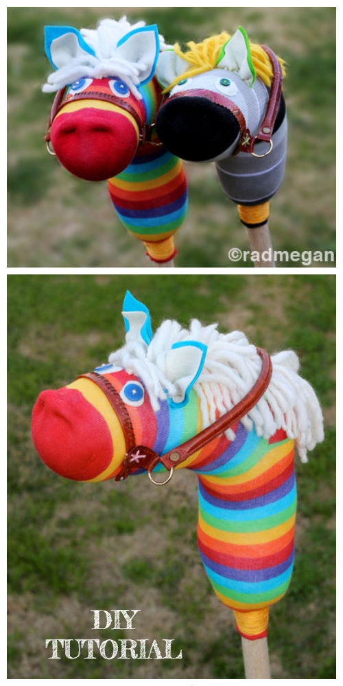 20+ Adorable Sock Toys DIY Tutorials -  DIY Sock Hobby Horse Tutorial