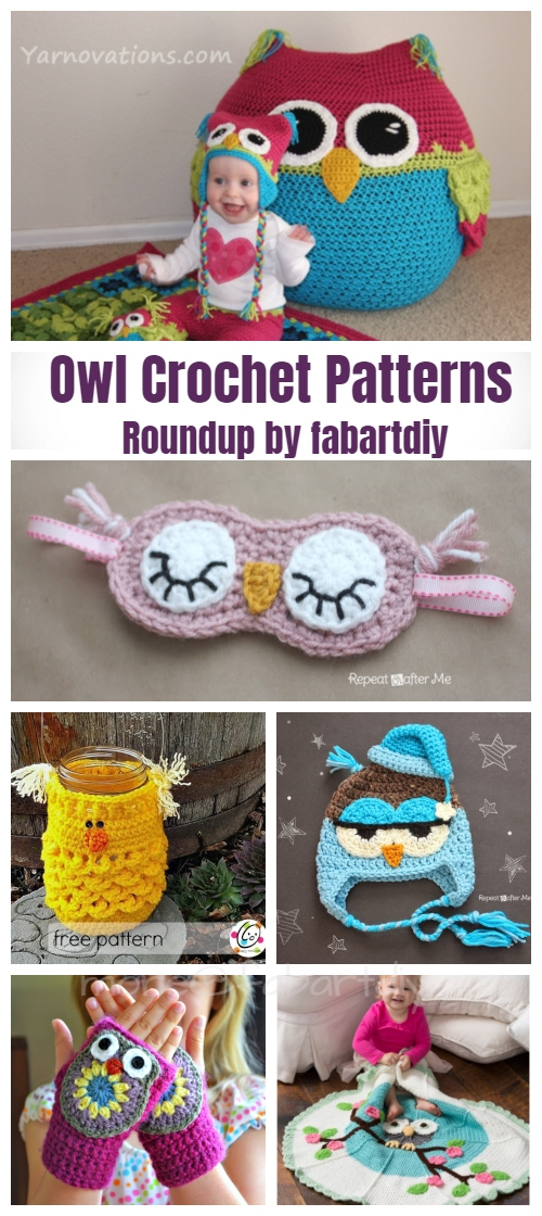 20+ DIY Crochet Owl Free Crochet Patterns