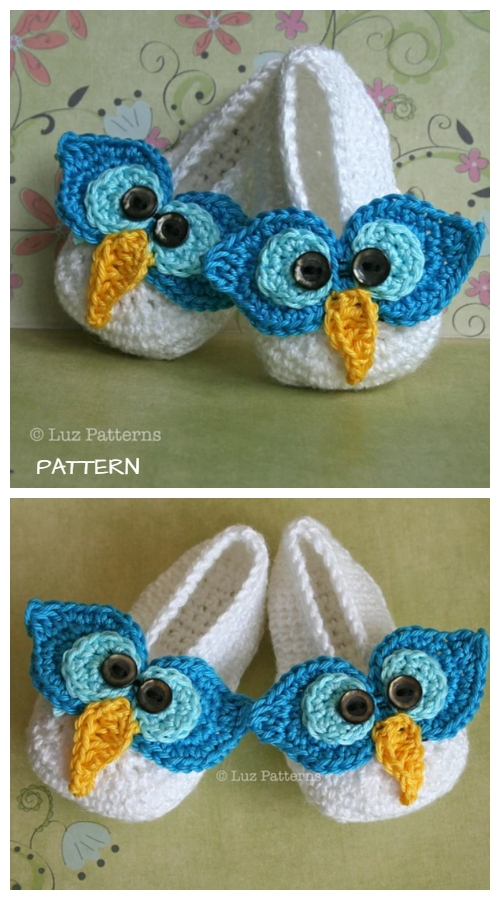 Crochet Mary Jane Baby Owl Booties Slippers Crochet Patterns