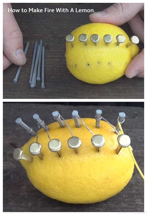 Camping Hack: How to Make Fire With Lemon