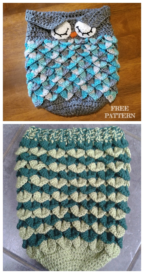 Crochet Crocodile Stitch Newborn Baby Cocoon Free Crochet Patterns