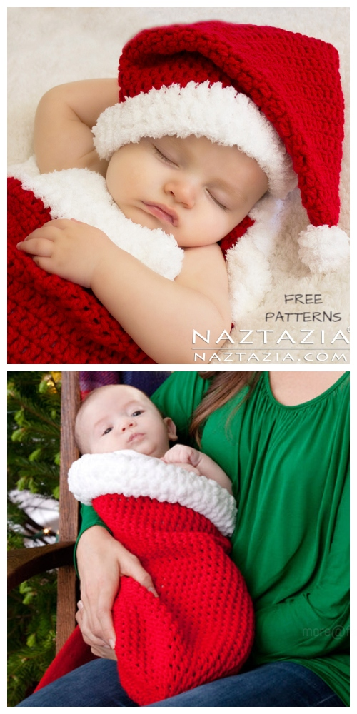 Crochet Santa Baby Cocoon Free Crochet Patterns