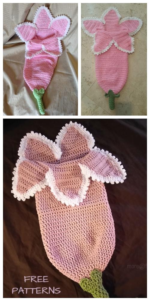 CrochetSpring Flower Newborn CocoonFreeCrochet Pattern