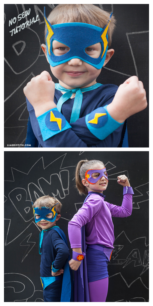 20+ DIY Halloween Costume Tutorials for All Ages -DIY Superheroes Costume Tutorials