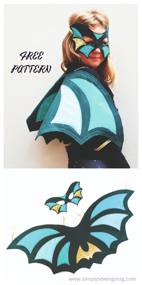 20+ DIY Halloween Costume Tutorials for All Ages -DIY Dazzling Dragon Costume Tutorials