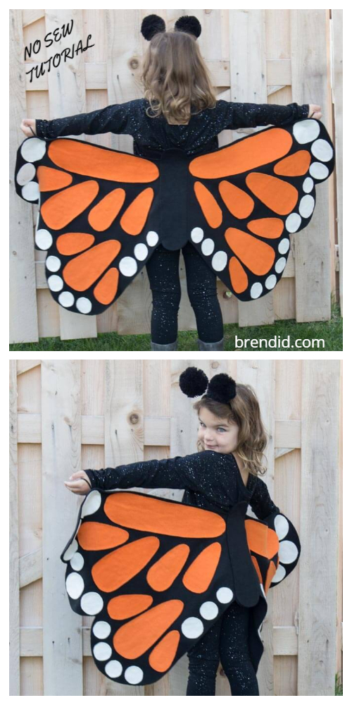 20+ DIY Halloween Costume Tutorials for All Ages -DIY No Sew Butterfly Costume Tutorials
