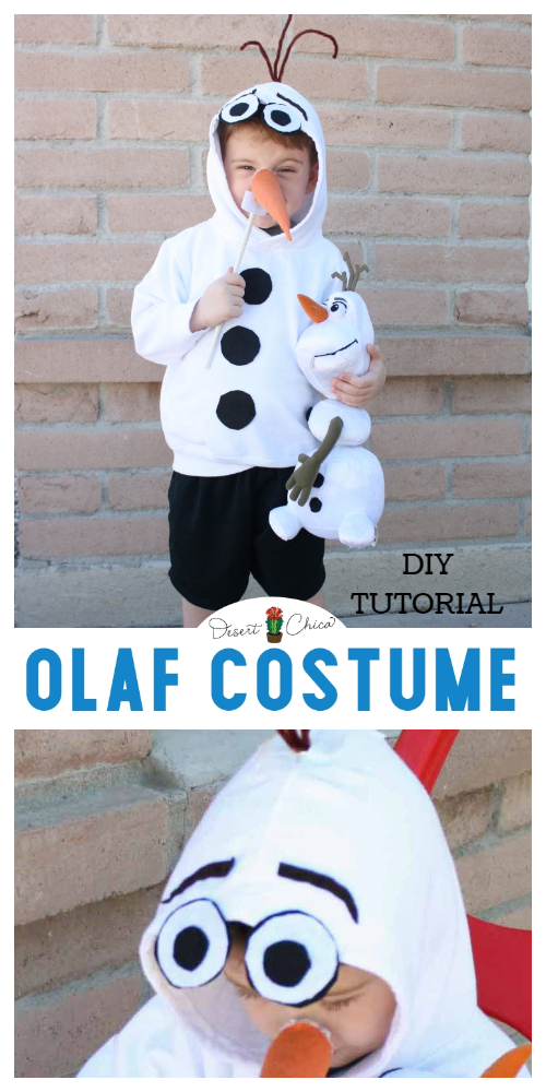 20+ DIY Halloween Costume Tutorials for All Ages -DIY Frozen Olaf Costume Tutorials