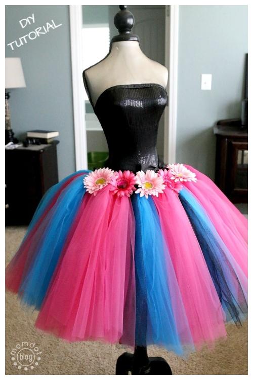 DIY No Sew Tutu Skirt Ideas & Tutorials - Adult Easy Tutu Skirt DIY Tutorial