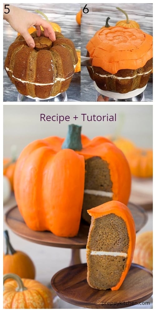 DIY 3D Pumpkin Bundt Cake Tutorials for Halloween