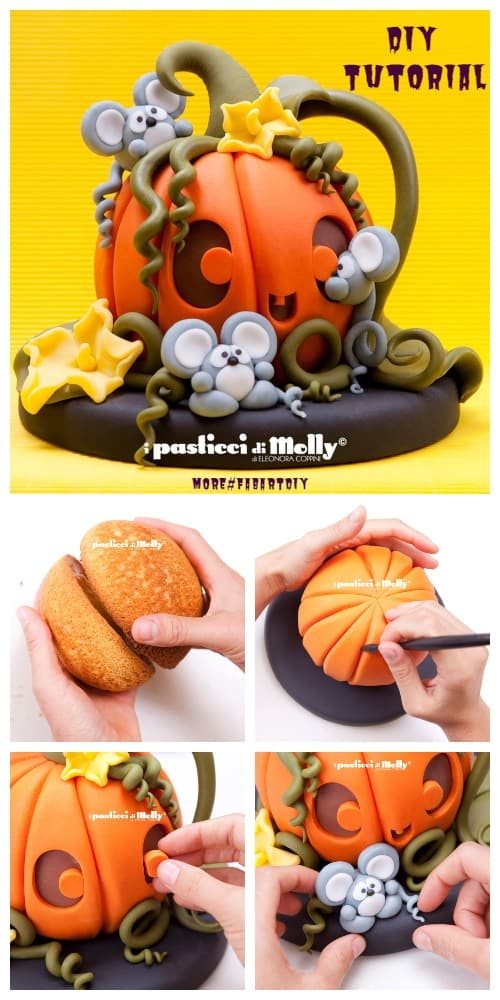 DIY 3D Magic Pumpkin Cake Tutorials for Halloween