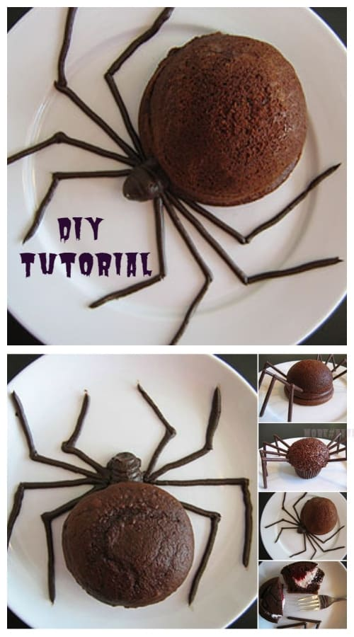 DIY Halloween Spider Cakes Recipes + Tutorial