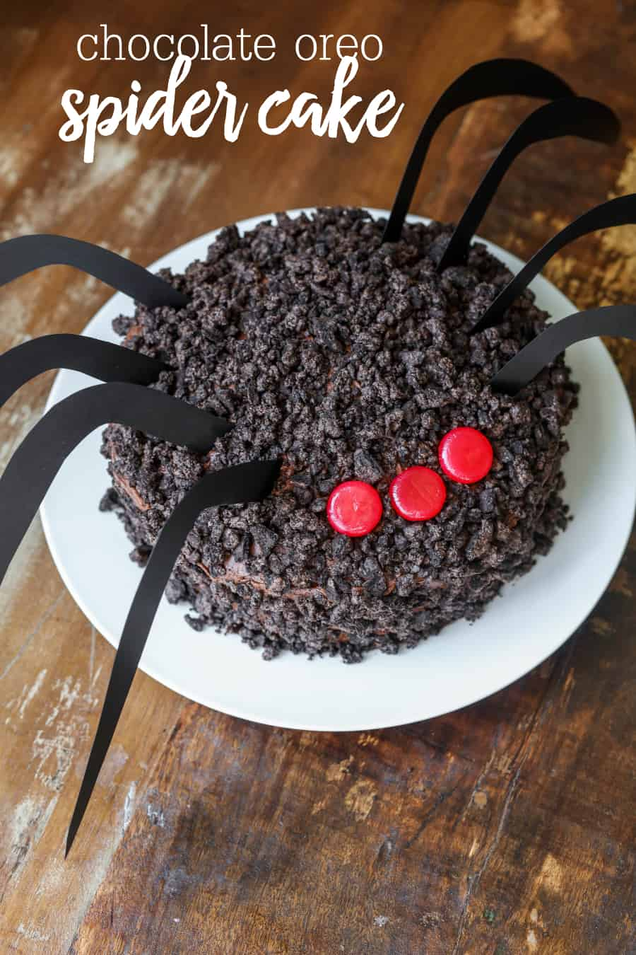 DIY Halloween Chocolate Oreo Spider Cake Recipe