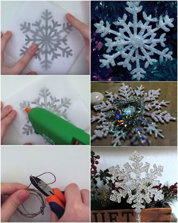 DIY Hot Glue Snowflake Ornament For Christmas Decoration + Video