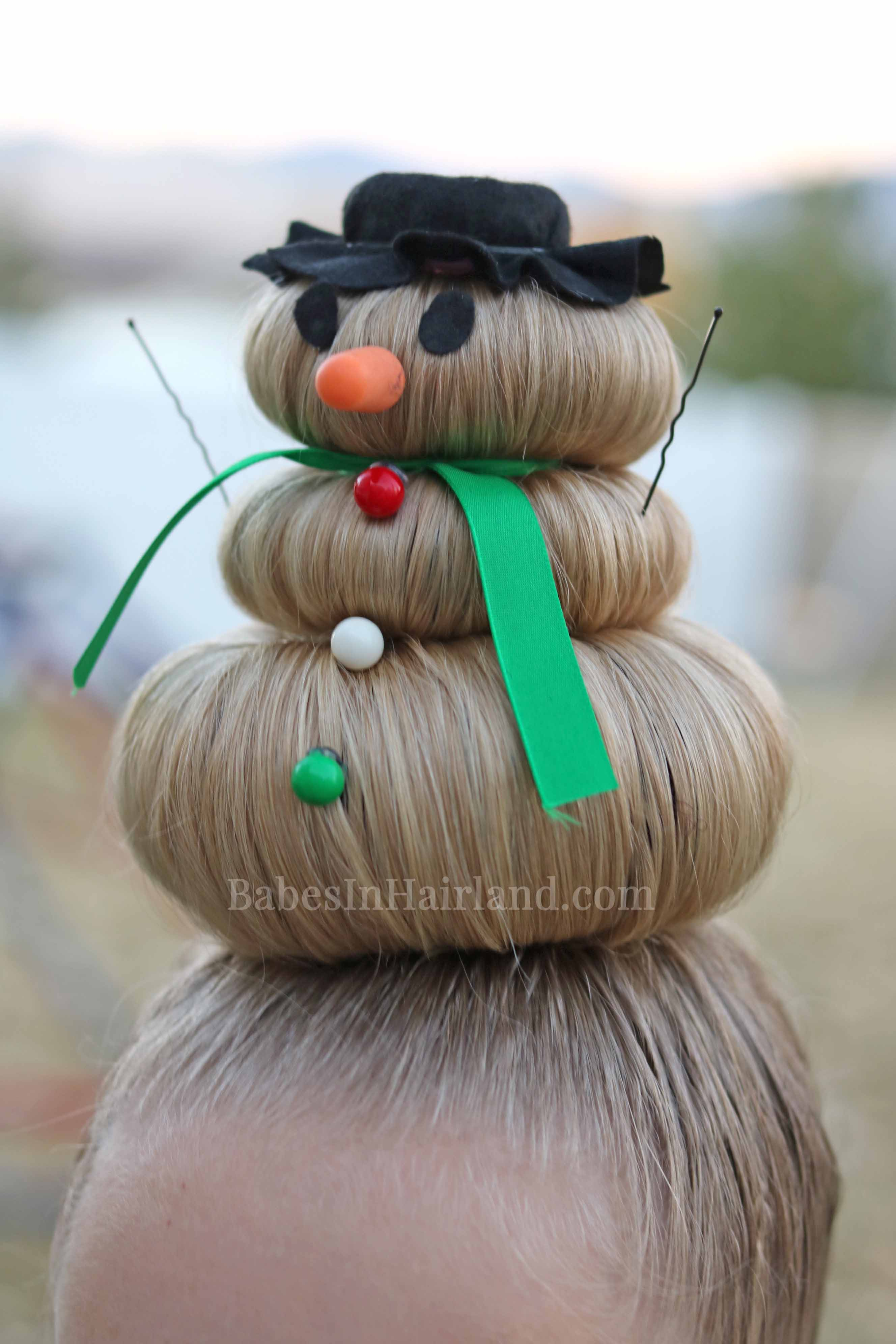 Festive Girls' Christmas Snowman Holiday Hairstyle DIY Tutorials + Video