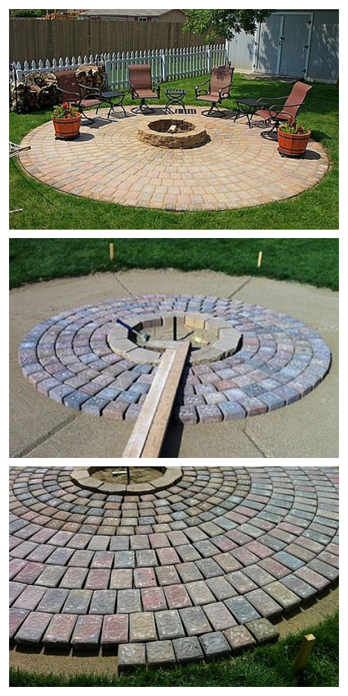 How to Build A Outdoor Fire Pit Patio DIY Tutorial
