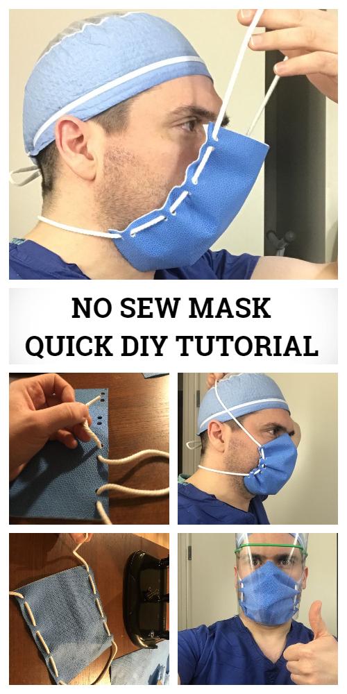 Quick No Sew Face Mask DIY Tutorial