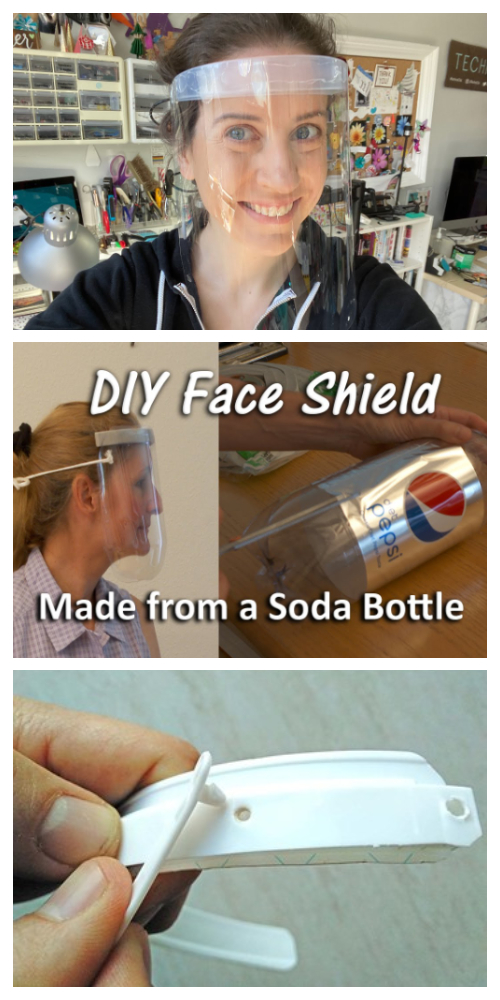 Easy Face Shield & Mask DIY Tutorial + Video