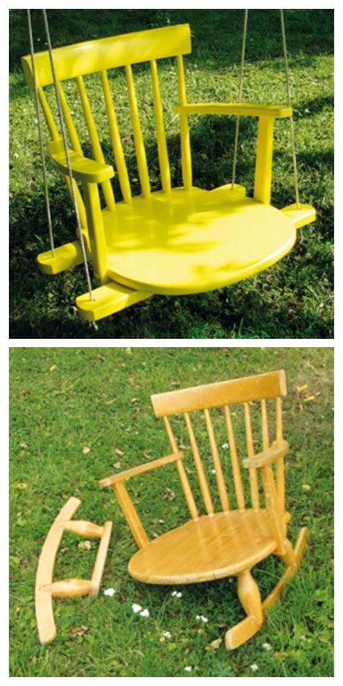Easy Recycled Chair Swing DIY Tutorials