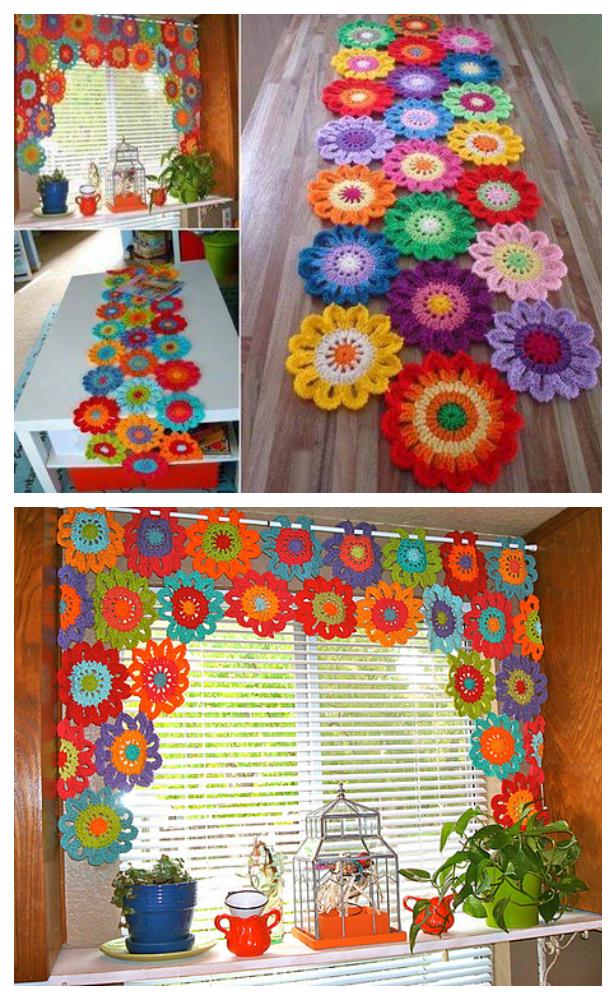 Flower Power Valance Free Crochet Pattern – Video