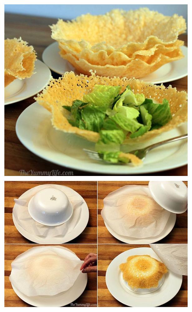 Microwave Parmesan Edible Cheese Bowls Recipe
