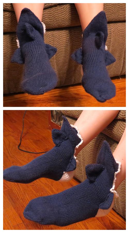 How to DIY 3D Knitted Shark Bite Socks