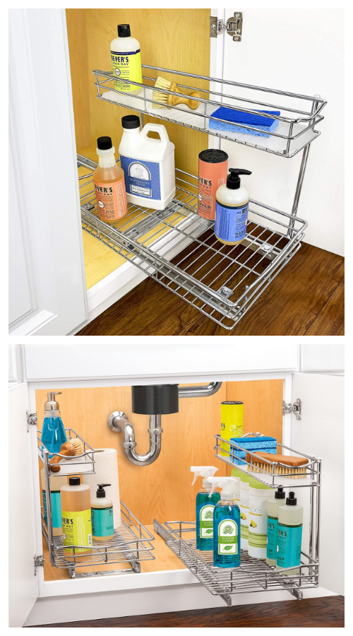 Kitchen Sink Roll-Out Storage Tray