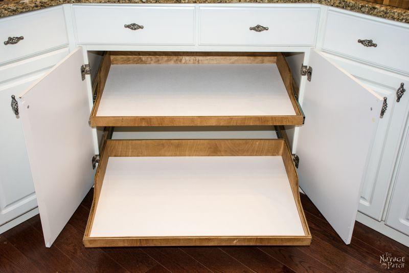 Kitchen Sink Slide out Shelf Storage Tray DIY Tutorial